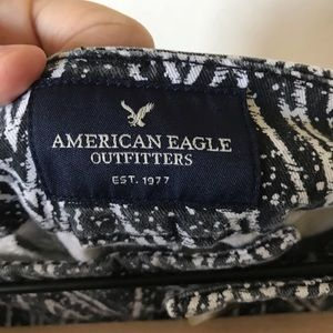 American Eagle Outfitters Shorts - AEO Dark Grey And White Geometric Speckled Shorts
